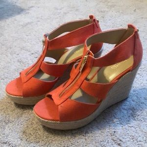 Michael Kors Wedges Orange Size 8